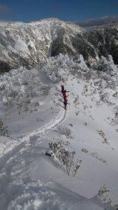 雪山での写真。