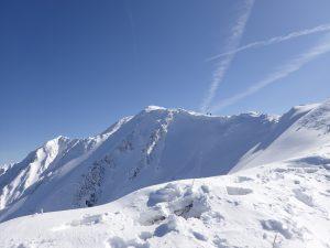 伯耆大山の稜線