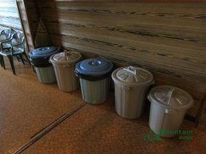 室内のゴミ捨て場