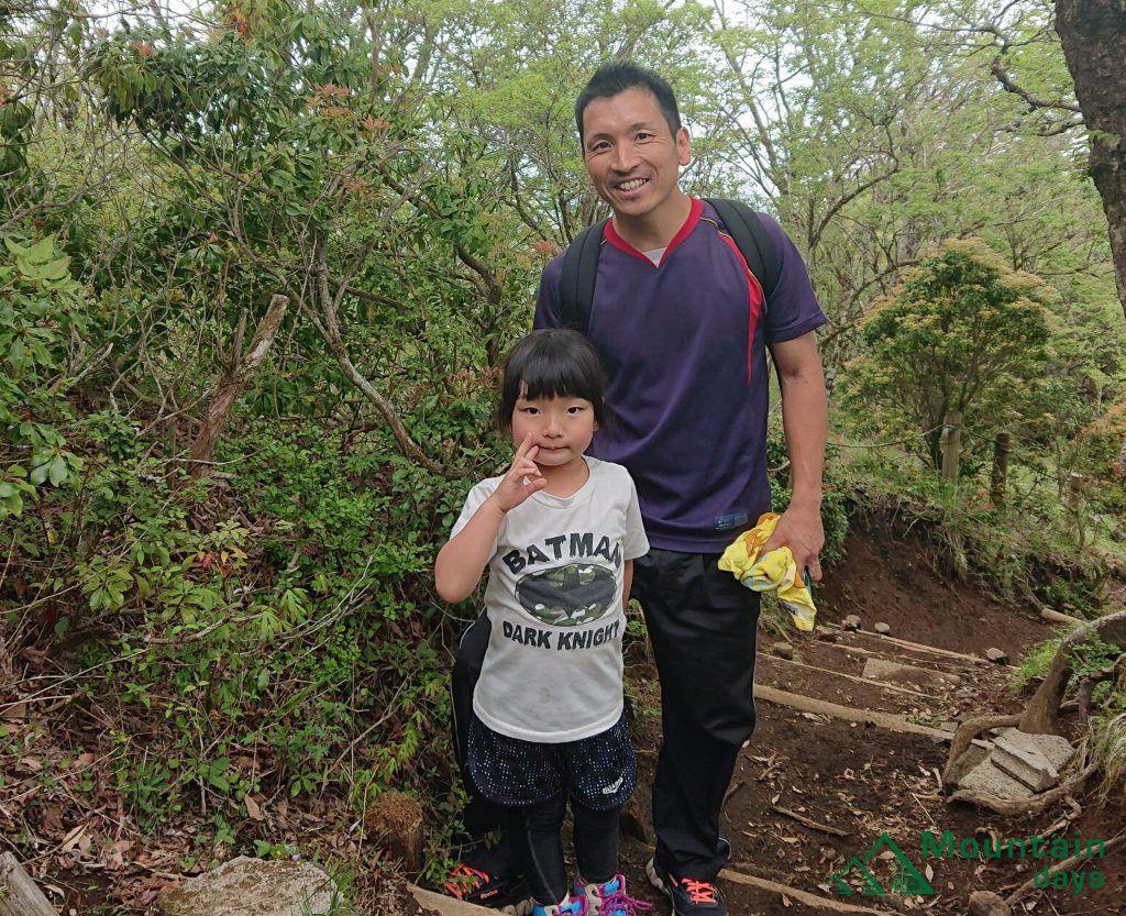 鍋割山で出会った登山者の写真