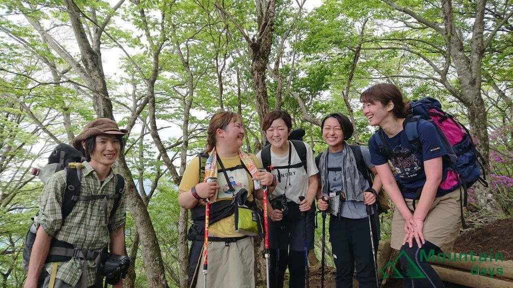 登山者を撮らせていただいた写真