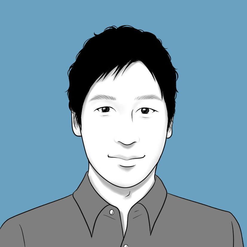 山岳ガイド田中はじめの似顔絵画像