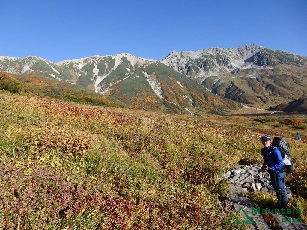 大日岳から立山三山を撮った写真