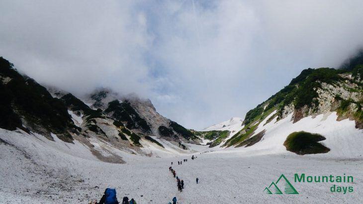 【まりの登山レポ】白馬岳の大雪渓