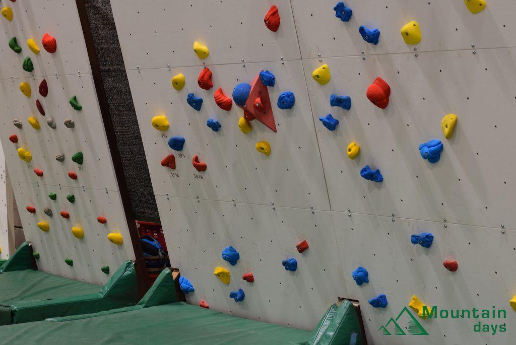 カートラジャパン内で設置されたボルダリングの壁
