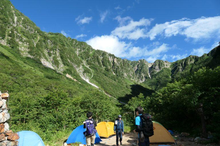 ババ平キャンプ地で撮影した写真