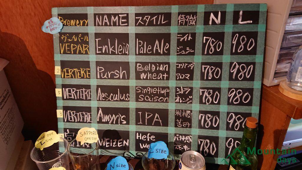 VEPARは青梅麦酒オリジナルのクラフトビール。