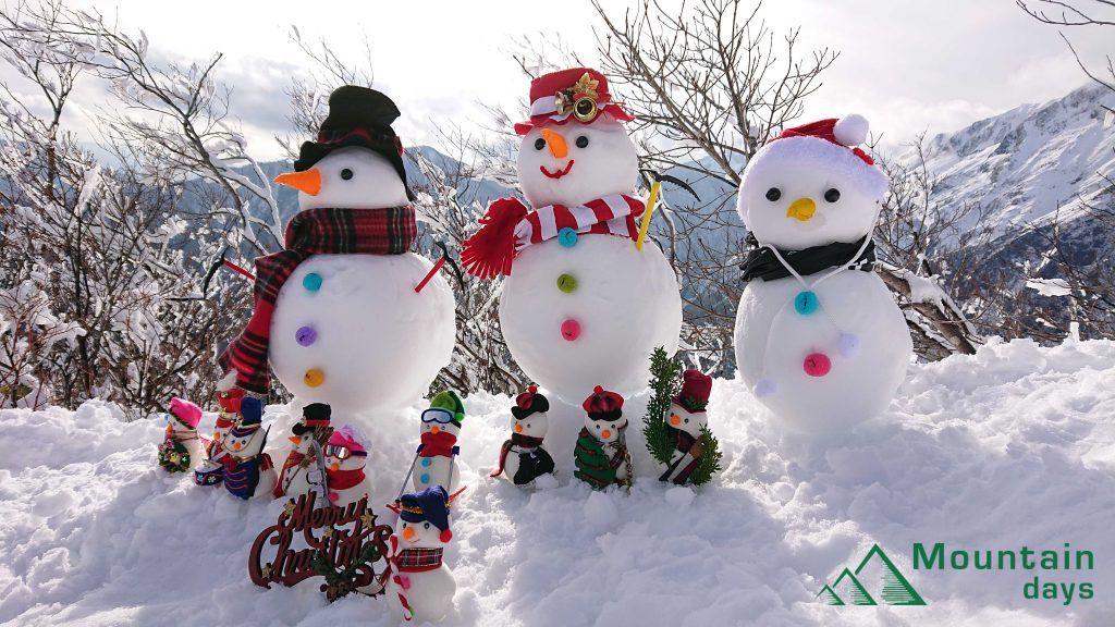 谷川岳で生きている雪だるま