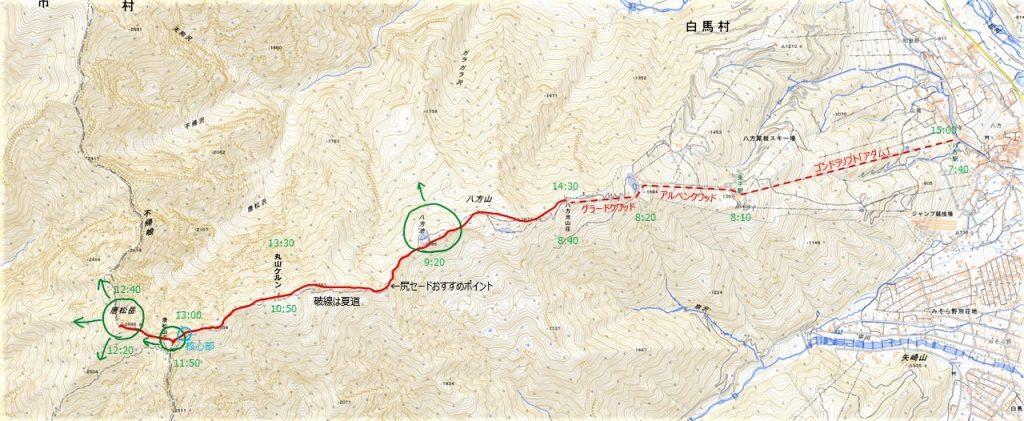 唐松岳地図